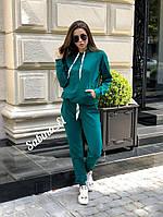 Спортивный костюм женский из двухнитки с худи  tez705668, фото 1