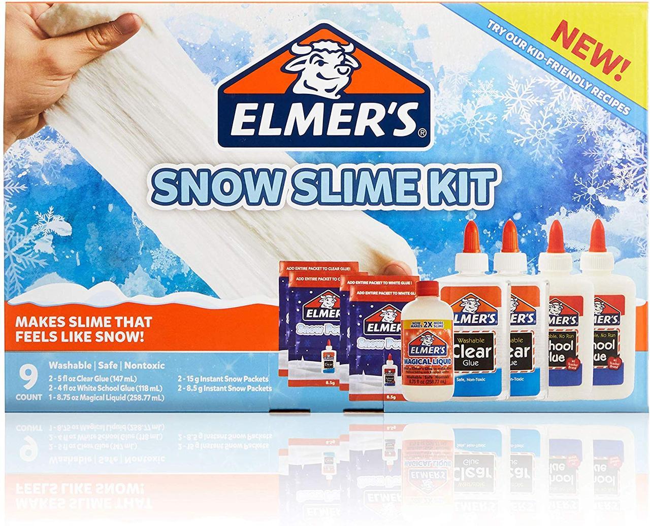 Набор Elmer's для Снежного слайма. Клей Elmer's+активатор+снег. SNOW Slime Kit. Оригинал из США