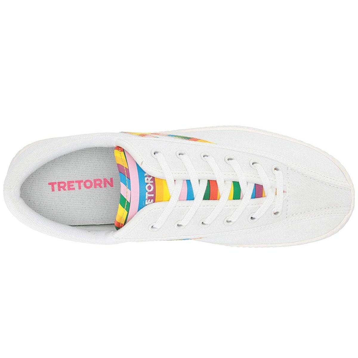 Кроссовки Tretorn Nylite 28 Plus Vintage White/Vintage White/Classic Multi - Оригинал, фото 1