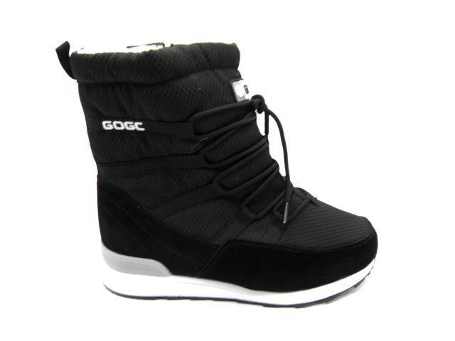 Черевики * підліткові GOGS 9862-1 чорний *23646 зимові