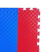 Мат'ласточкин хвост' 1м*1м*4см, красно/синий.