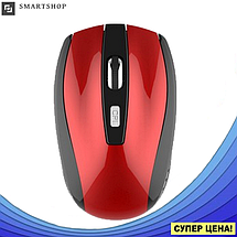 Беспроводная мышка G-109 - компьютерная мышь оптическая Красная, фото 3