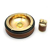 Подарочный набор (Пепепельница с зажигалкой)(24х19х5,5 см)(BR-17T)