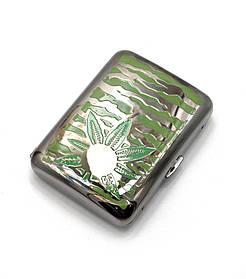 "Портсигар ""Коноплянный лист "" (9,5х7х2 см)(C106C)"