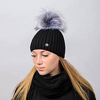 Вязанный женский комплект Лиза Nord Черный wkliza01, КОД: 388075