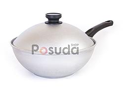 WOK сковорода алюминиевая с крышкой 26 см Биол А265