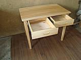 Деревянный стол с ящиками из массива БУКА, фото 5