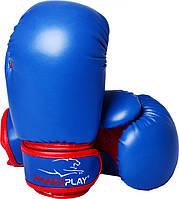 Боксерські рукавиці PowerPlay 3004 JR Синьо-Червоні 8 унцій