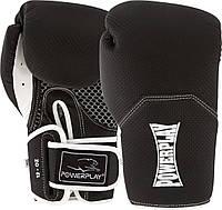 Боксерські рукавиці PowerPlay 3011 Чорно-Білі карбон 10 унцій
