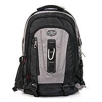Универсальный нейлоновый рюкзак для города и туризм мужской POWER IN EAVAS 50*35*25 см(43литра), 8215 grey
