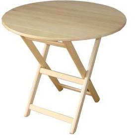 """Круглий стіл """"Компакт-раунд"""" (дерев'яний, розкладний, БУК)"""