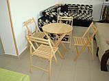 """Круглий стіл """"Компакт-раунд"""" (дерев'яний, розкладний, БУК), фото 5"""