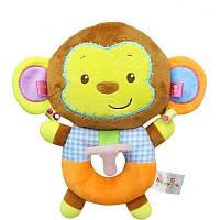 Мягкая игрушка-соска Коричневая обезьянка Happy Monkey