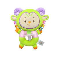 Мягкая игрушка-соска Зелёный барашек Happy Monkey