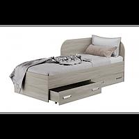 Кровать односпальная с ящиками для белья КАМА Ф 0413 светлое дерево