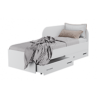 Кровать односпальная с ящиками для белья КАМА Ф 0414