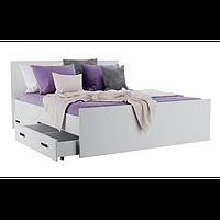 Кровать двуспальная с ящиками для белья КАМА БС 0409