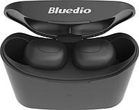 Беспроводные Bluetooth наушники Bluedio T Elf с зарядным кейсом (Черный)