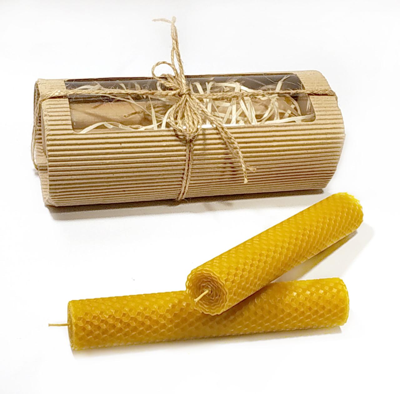Катанные свічки ручної роботи з натурального бджолиного воску