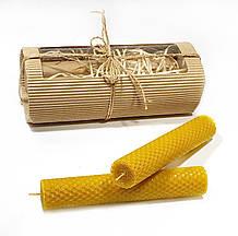 Катанные свечи ручной работы из натурального пчелиного воска