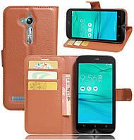 Чехол IETP для ASUS ZenFone Go ZB500KL / X00AD книжка кожа PU коричневый