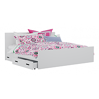 Кровать двуспальная с ящиками для белья КАМА БС 0410
