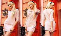 Стильное женское платье мини с арманами Versal бежевый