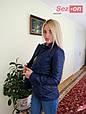 Куртка женская короткая на синтепоне - Синий, фото 3