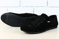 Мужские туфли на шнурке замша