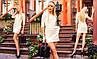 Стильное женское платье мини с арманами Versal молочный