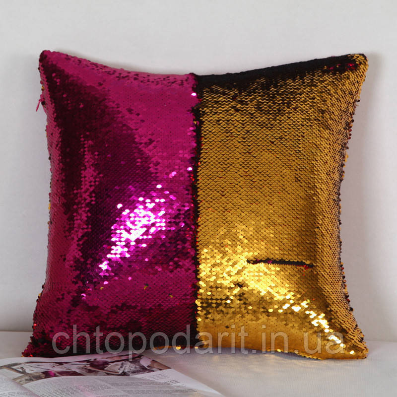 Подушка с пайетками Код 10-4505