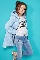 Осенняя куртка Жаклин в голубом цвете Nui Very