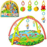 Коврик игровой для младенцев с дугами + игрушки  518-17