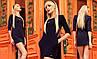 Стильное женское платье мини с арманами Versal черный