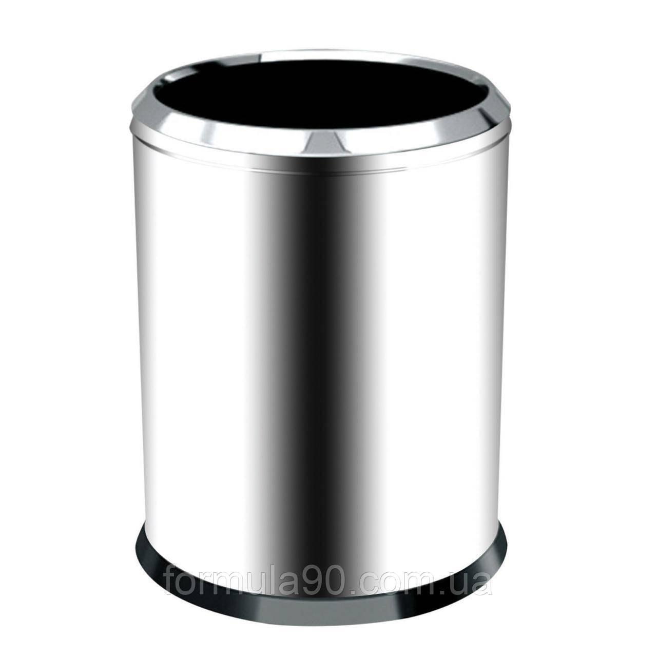 Хромированная мусорная корзина 32 л.