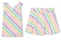 Комплект The Children's Place юбка с вшитыми шортиками и майка 155-159см белый
