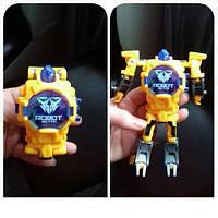Часы трансформер робот жёлтый