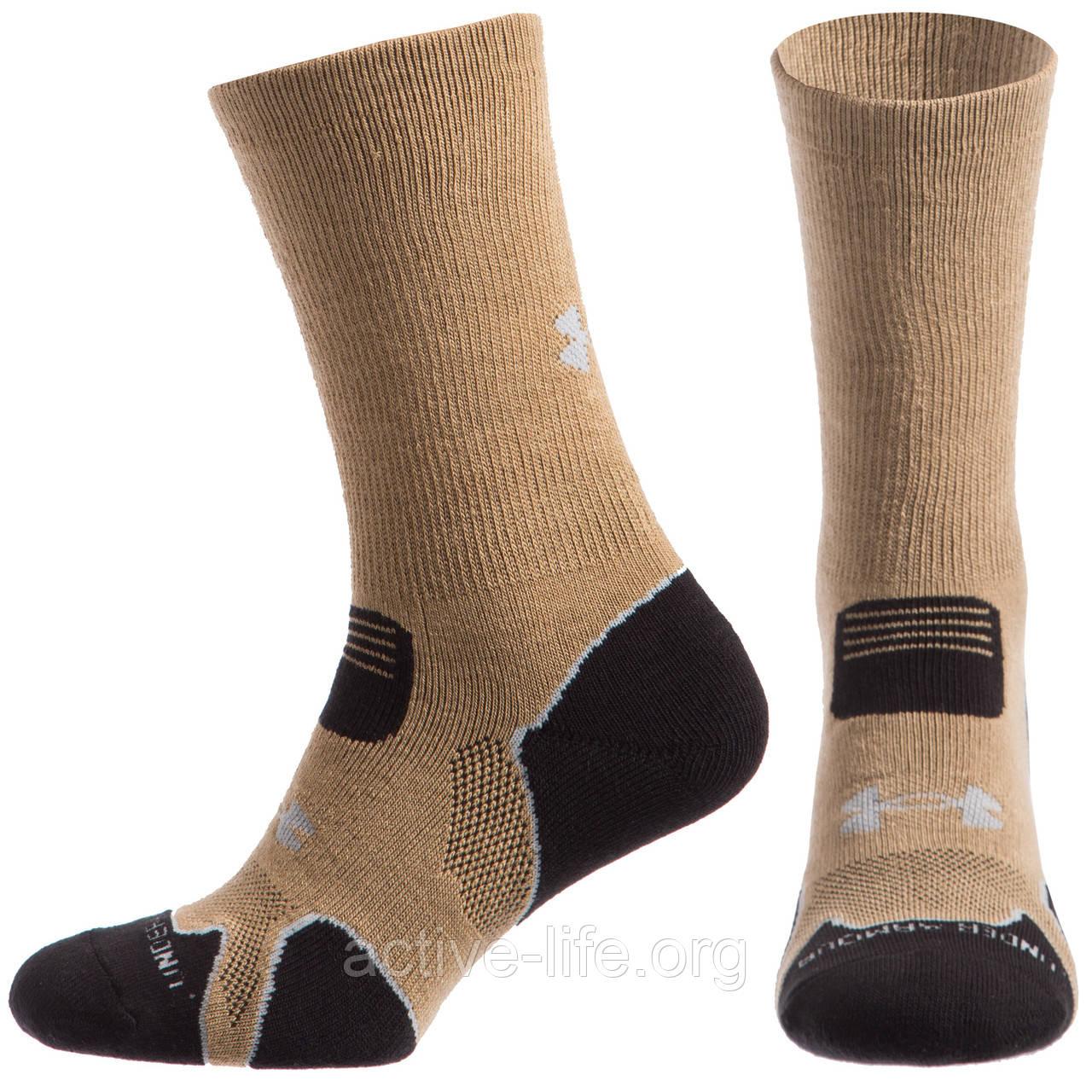 Чоловічі термо шкарпеткиUnder Armour рр. 40-45(Level-1) Coyote, фото 1