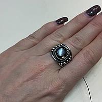Кольцо с раух-топазом дымчатый кварц в серебре 16 размер. Кольцо с камнем раух-топаз Индия