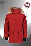 Стильная красная мужская зимняя куртка парка канада гус/Canada Goose, реплика, фото 1