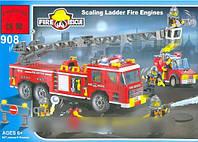 Конструктор brick 908 пожарная охрана 607 деталей kk