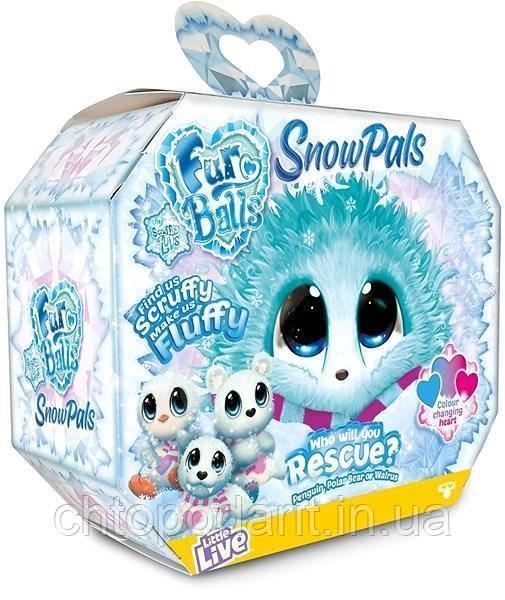 Пушистик потеряшка «Снежные друзья» игрушка сюрприз Scruff A Luvs Snow Pals Код 12-1935