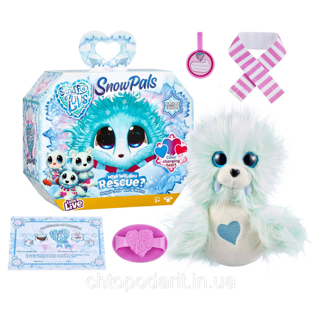Пушистик потеряшка «Снежные друзья» игрушка сюрприз Scruff A Luvs Snow Pals Код 12-2011