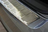 Накладка на задний бампер Skoda Superb III liftback (sedan) 2015-, полированная сталь 35229