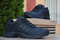 Мужские кроссовки Adidas Climaproof, нубук, черные.