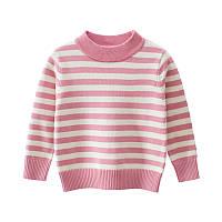 Свитер для девочки Розовые полосы 27 KIDS (90)