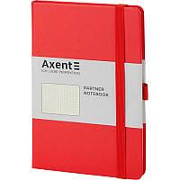 Записная книга блокнот Axent Partner 125x195мм 96л точка,красный (8306-05-A)