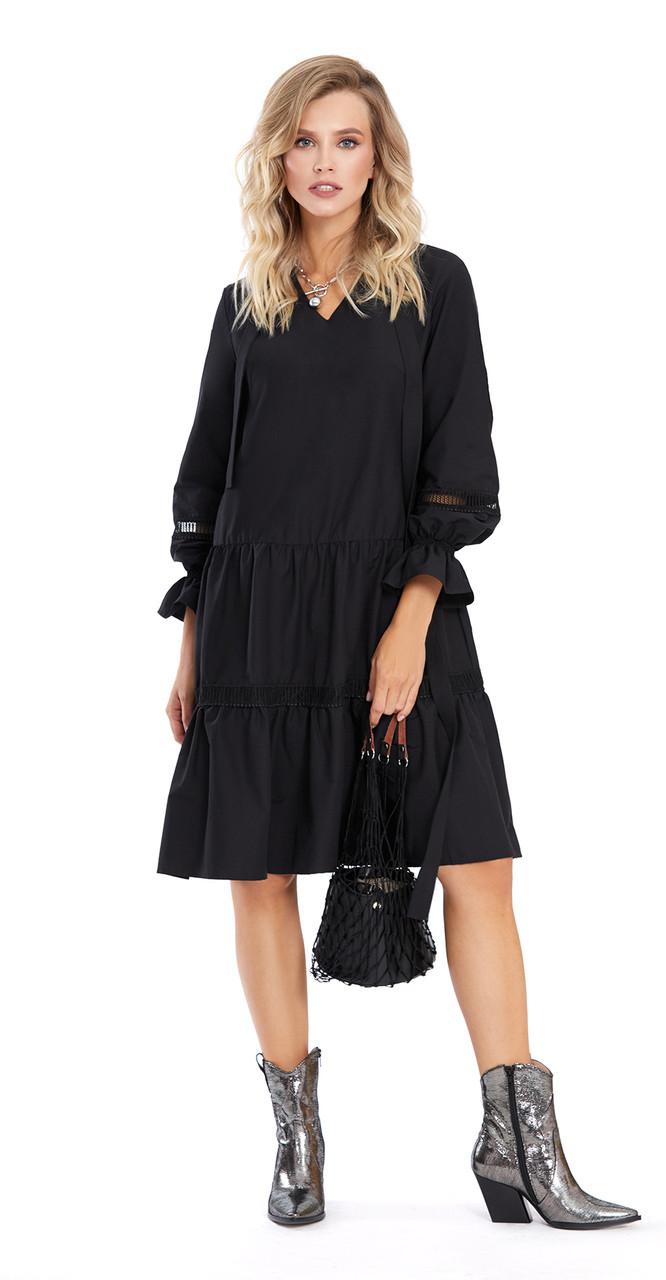 Сукня PiRS-876 білоруський трикотаж, чорний, 42