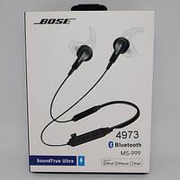 Беспроводные Вluetooth стерео наушники BOSE MS 999 с разъемом micro SD Чёрные