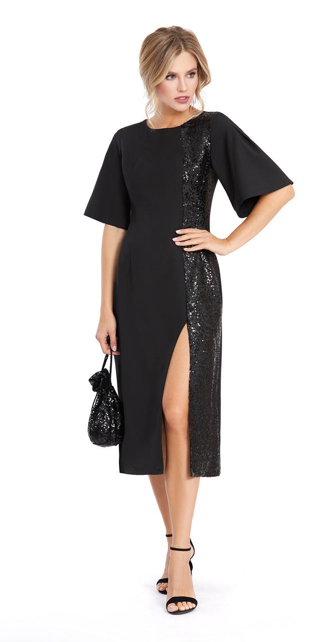 Платье PiRS-890 белорусский трикотаж, черный, 42